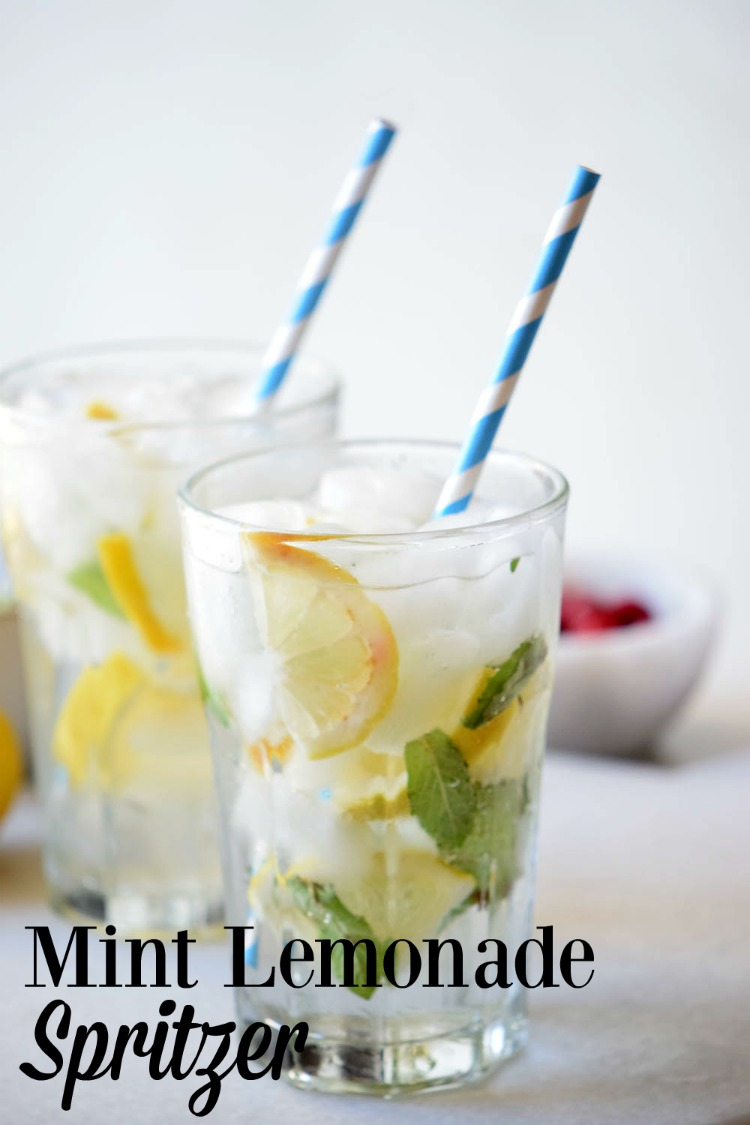 Looking for a drink to keep you refreshed on a summer day? Make a glass or more of Mint Lemonade Spritzer.