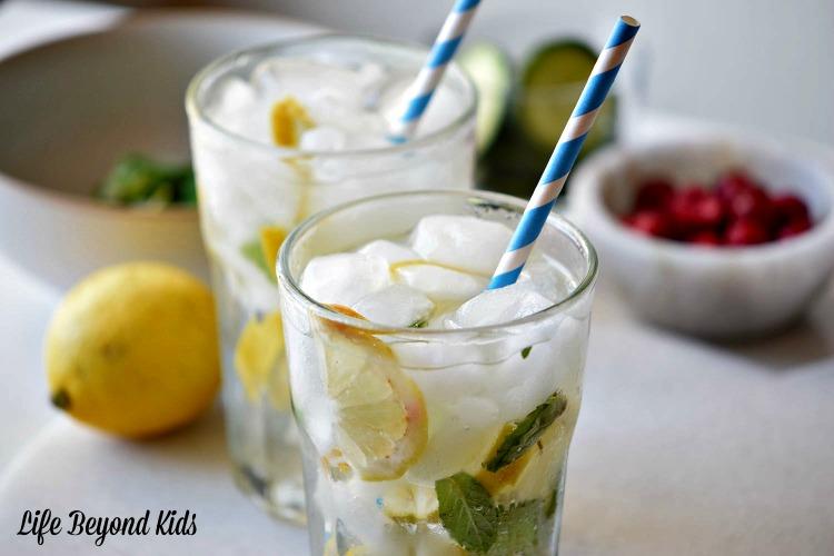 Refresh & Rejuvinate with a Mint Lemonade Spritzer