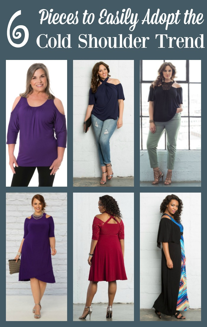 With one of these 6 pieces you can easily adopt the cold shoulder trend into your wardrobe. All are flattering for women with curves.
