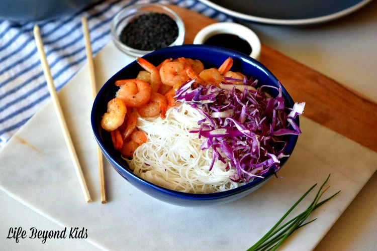 Easy Dinner Option: Marinated Shrimp Bowls