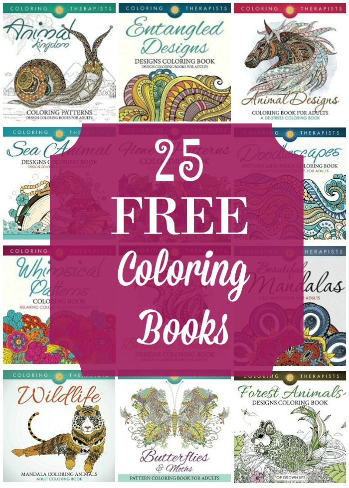 Grab these 25 Free Coloring Books for Kindle and start enjoying a stress relieving activity.