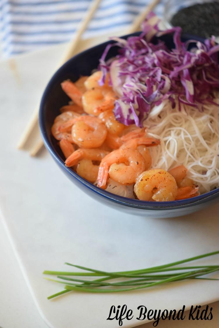Marinated Shrimp Bowls make for a lovely meal.