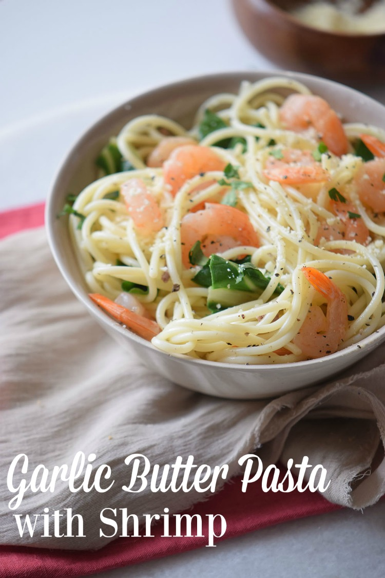Love a basic Shrimp Scampi at your local Italian restaurant but want to trim the fat and expense? Consider making this Garlic Butter Pasta with Shrimp at home.