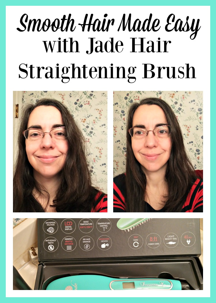 Looking to get a sleek hairstyle without spending hours getting it? Check out the Jade Hair Straightening Brush from Irresistible Me.