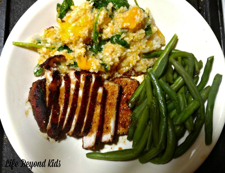 Roasted Pork is a great main dish to compliment Ancient Grain Pilaf with Butternut Squash.