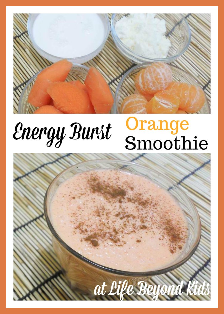 Get a Pick Me Up With An Orange Energy Burst Smoothie