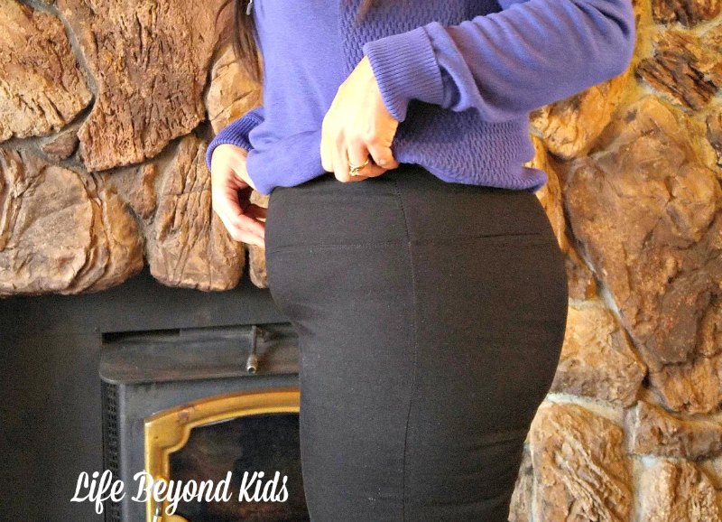 These shapewear leggings have a snug fit with a stomach panel to slim.