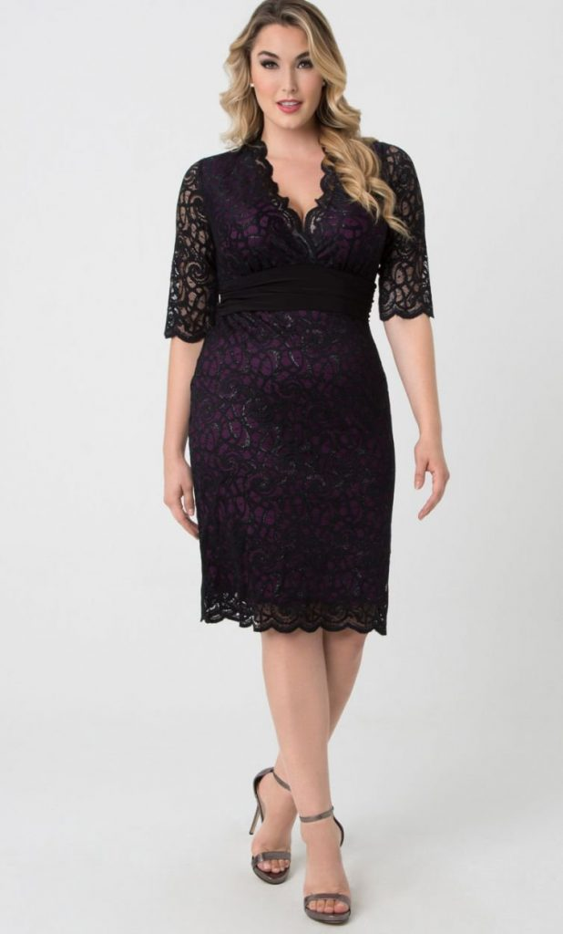Lumiere Lace Dress, Silver Lining