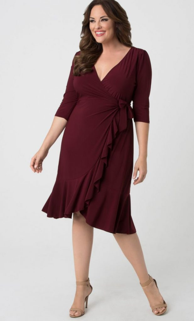 Whimsy Wrap Dress, Pinot Noir