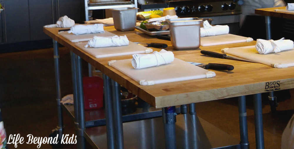 Workstations at Uncorked Kitchen