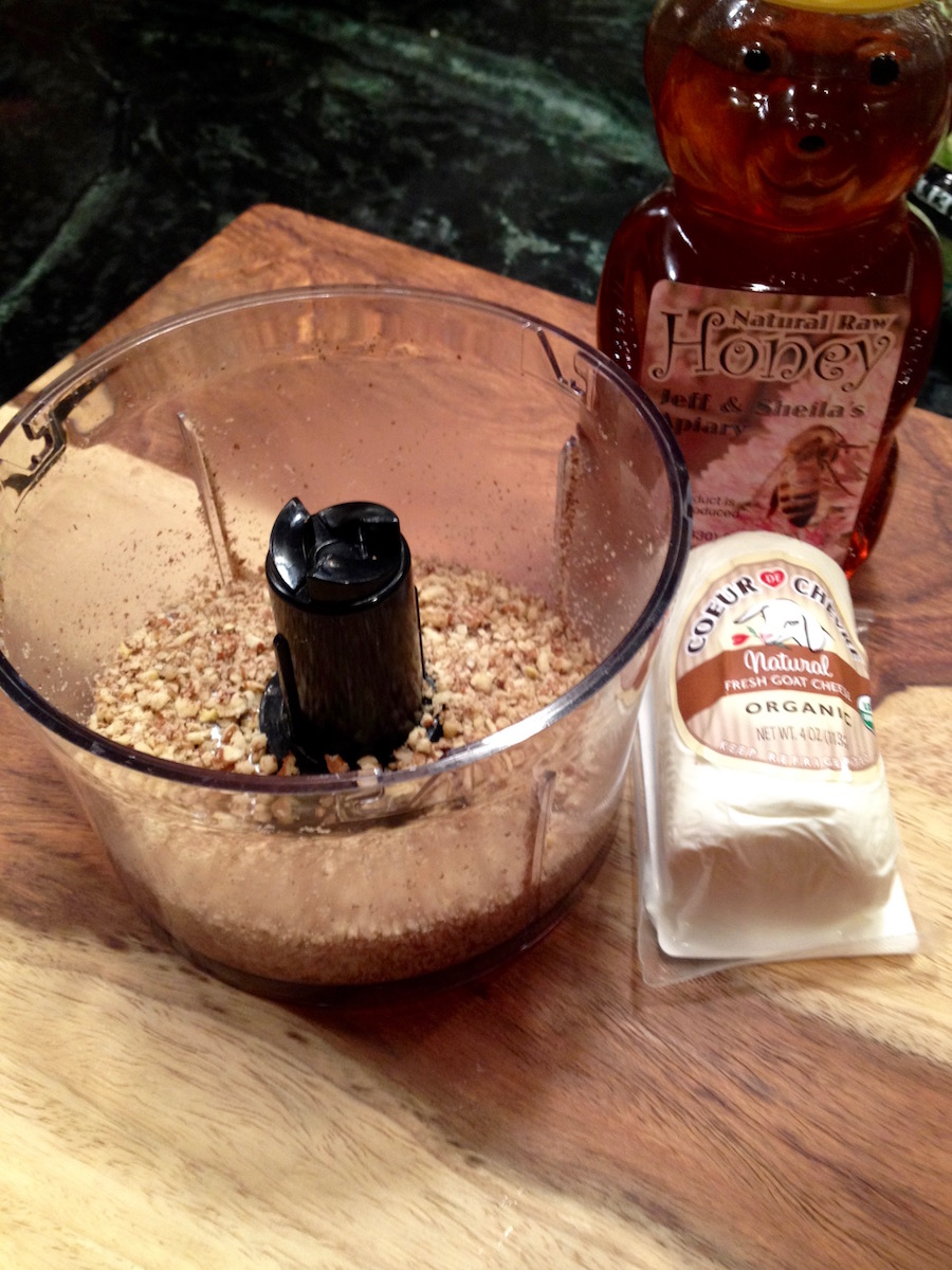 Ingredients for Pecan-Crusted Goat Cheese Logs